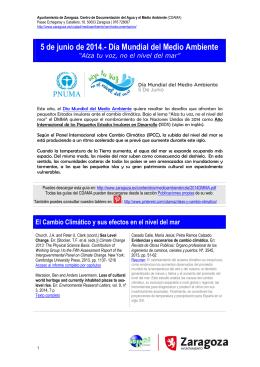 Islas y Cambio Climático - Ayuntamiento de Zaragoza