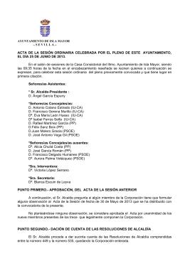 ACTA DE LA SESIÓN ORDINARIA CELEBRADA POR EL PLENO