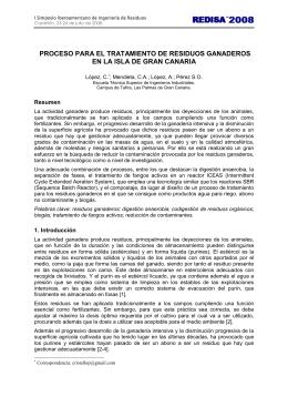 proceso para el tratamiento de residuos ganaderos en la isla de