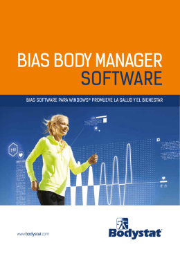 BIAS BODY MANAGER SOFTWARE