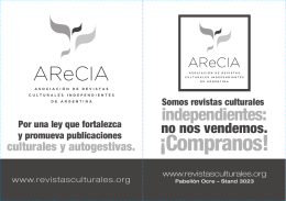 Folleto Arecia - Asociación de Revistas Culturales Independientes