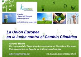 La Unión Europea en la lucha contra el Cambio Climático