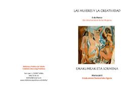 Mujeres y creatividad - Folleto