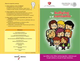 """""""El bullying y el consumo"""""""