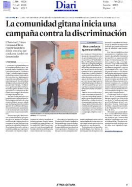 La comunidad gitana inicia una campaña contra la discriminación