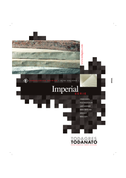 Folleto Serie Imperial 2008