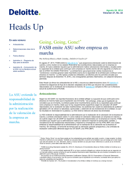Heads Up - IAS Plus