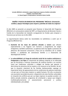 """DISEÑO Y PUESTA EN MARCHA DEL PROGRAMA """"BRÚJULA"""
