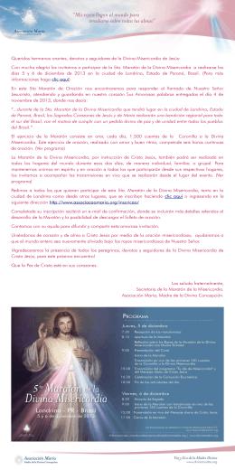 Queridos hermanos orantes, devotos y seguidores de la Divina