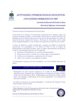 Informe de resultados con Estados Hermanos 2005