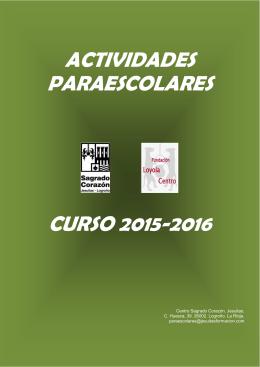 CURSO 2015-2016 ACTIVIDADES PARAESCOLARES