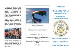 """""""BAILANDO POR LA CONVIVENCIA"""""""