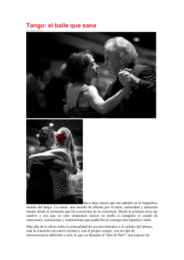 Tango: el baile que sana