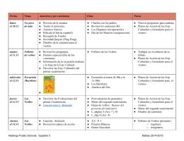 Fecha Tema Anuncios y pre enseñanza Clase Tarea lunes el 10.11