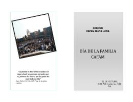 DÍ A DE LA FAMÍLÍA CAFAM - Colegio cafam santa lucia