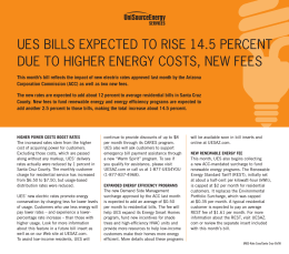 ues bills expected to rise 14.5 percent due to higher energy costs