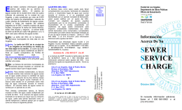 SEWER SERVICE CHARGE E