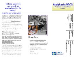 Applying to GBCS