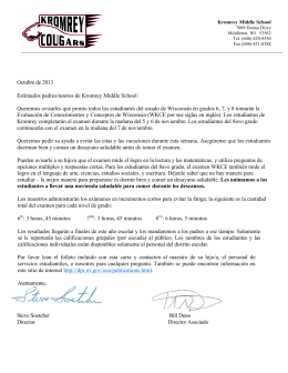 WKCE Letter 13-14 SPANISH VERSION