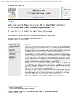 Conocimiento de las preferencias de los pacientes terminales en los