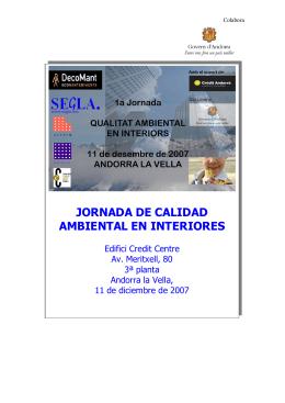 JORNADA DE CALIDAD AMBIENTAL EN INTERIORES