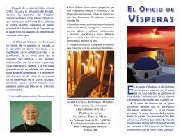 VíSPERAS - Iglesia Católica Apostólica Ortodoxa de la Santísima