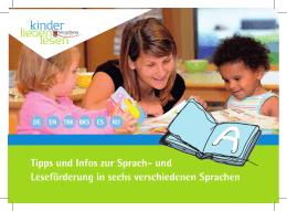 Tipps und Infos zur Sprach- und Leseförderung in