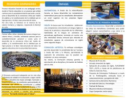 FILOSOFÍA GIMNASIANA ÉNFASIS - Gimnasio Campestre del Norte