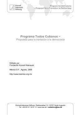 Programa Todos Cubanos - Konrad-Adenauer