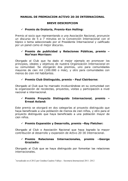 Manual de Premios Internacionales