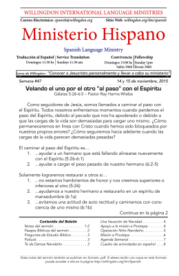Spanish Sermon Notes Nov 15