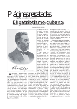 El patriotismo cubano.