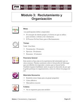 Módulo 3: Reclutamiento y Organización