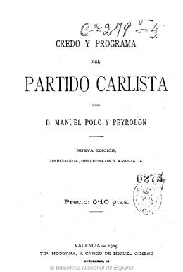PARTIDO CARLISTA - Comunión Tradicionalista