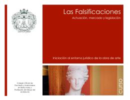 Curso falsificaciones - Colegio Oficial Bellas Artes Sevilla