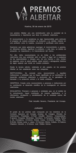 Huelva, 30 de enero de 2015 JURADO