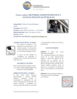 Curso online reforma administrativa folleto f