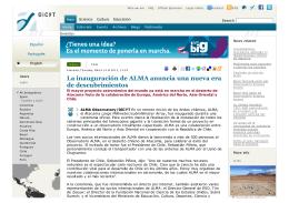 La inauguración de ALMA anuncia una nueva era de descubrimientos