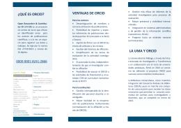 Folleto ORCID_versión 2015 - Repositorio Institucional de la