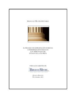 manual del propietario el proceso de expropiación forzosa e