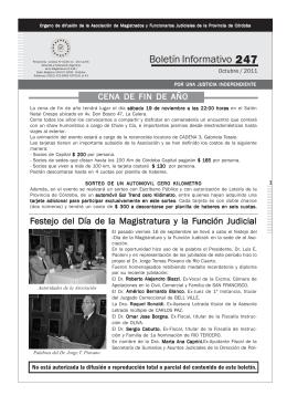 Boletín Nº 247 - Asociación de Magistrados y Funcionarios