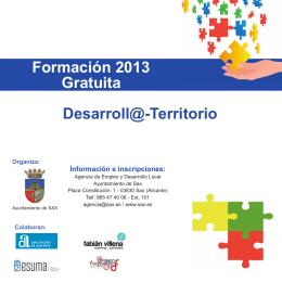 Formación 2013 Gratuita Desarroll@-Territorio