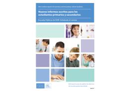 Nuevos informes escritos para los estudiantes primarios y secundarios