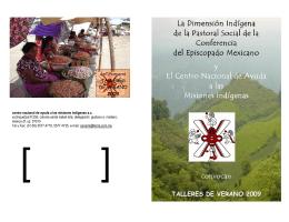 La Dimensión Indígena La Dimensión Indígena de la Pastoral