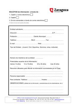 formulario(documento pdf) - Ayuntamiento de Zaragoza