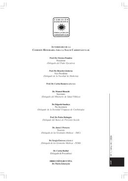 Boletín N°1 - Año VII - Comisión Honoraria para la Salud