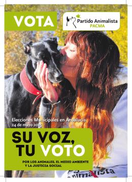 Folleto para Andalucía - Elecciones autonómicas y municipales de