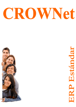 Folleto estandar - Crownet Sistemas, SL
