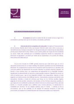 Acta de la reunión del día 18/07/2014