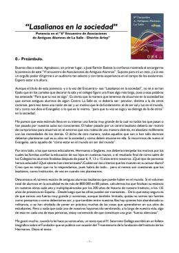 Ponencia del H. Javier - Antiguos Alumnos del Colegio Ntra. Sra. de